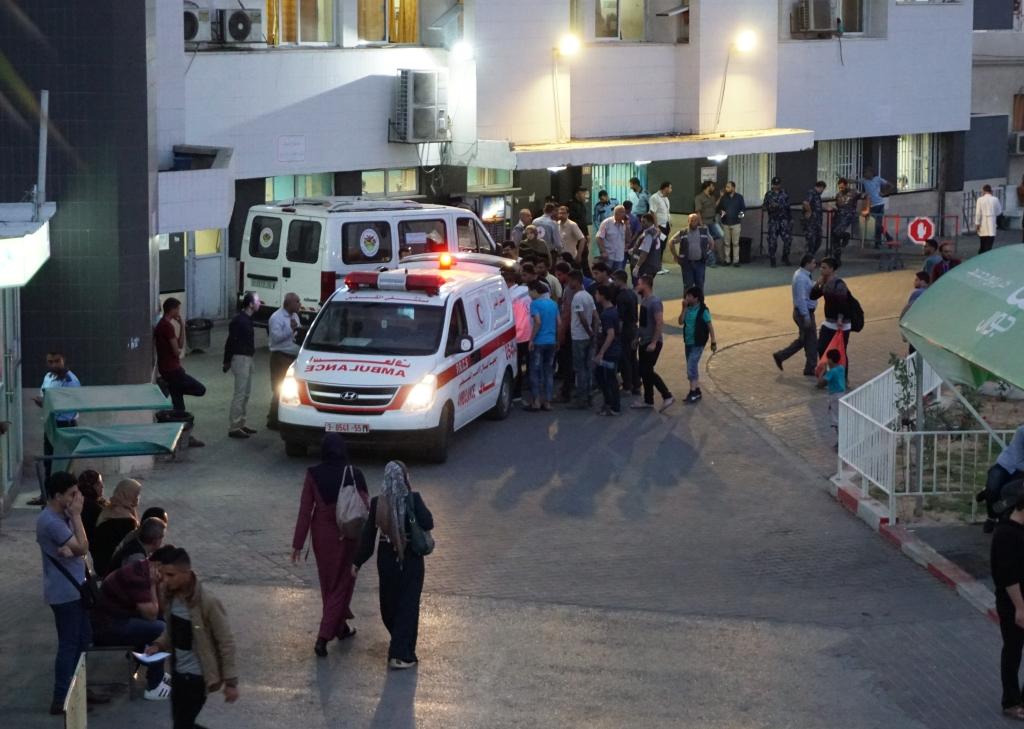 בית החולים א־שיפא, עזה, 11 במאי 2018