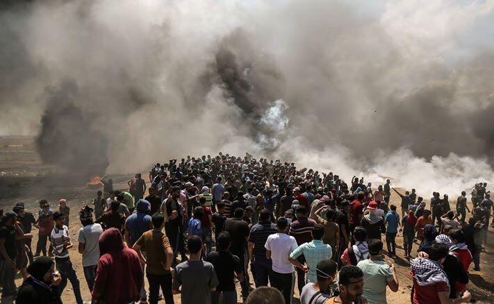 Gaza, 14 May 2018. Photo by Dawoud Abo Al Kas