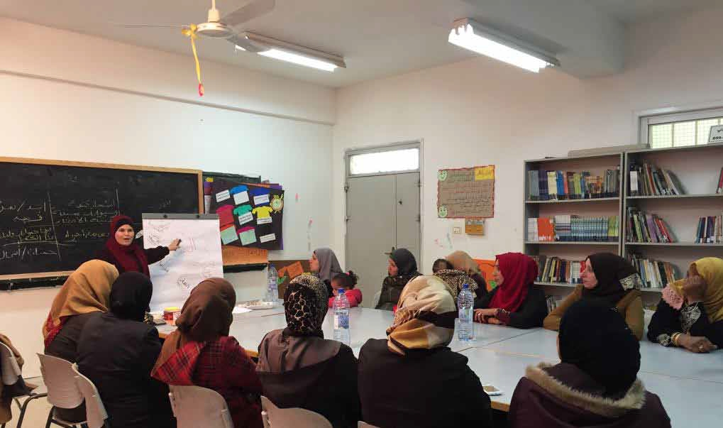 One of the meetings of the GBV Safety Audit Groups with the mothers in Fasayel Coed School on the 5th of February 2018. © Photo by AVSI