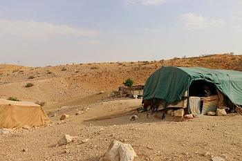 ביתה של משפחה בדואית המשמש בחלק מהזמן כמרפאה. צילום: ארגון הבריאות העולמי / אליס פלייט