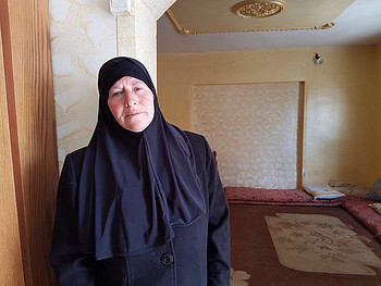 Al Qunbar, mother of January 2017 perpetrator from Jabal al Mukabbir whose residency was revoked, March 2017. © Photo by OHCHR