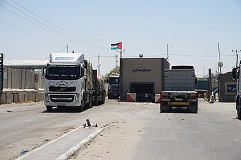 מעבר כרם שלום, 17 במאי 2019 / © צילום: משרד האו״ם לתיאום עניינים הומניטריים