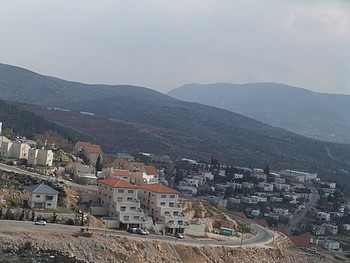 Elon Moreh Settlement built-up area.© Photo by OCHA