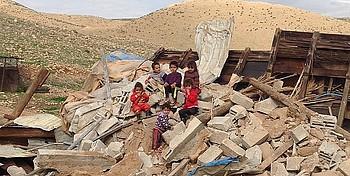 Home demolished in Al Jiftlik community (Jericho), February 2016. ©  Photo by OCHA