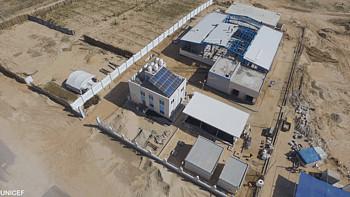 Newly inaugurated desalination plant in Deir al Balah, Gaza 2017. © Photo by UNICEF