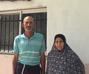 Jamileh and Suleiman Awad Infront of their house in Wadi Yasul. © Photo by OCHA