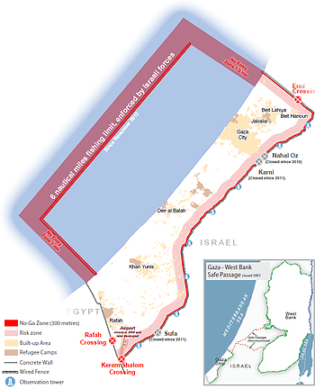 Map: The Gaza Strip