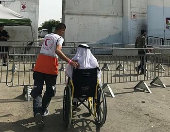 Qalandiya checkpoint Friday 17 May. © Photo by OCHA