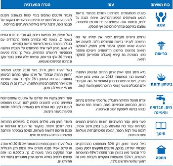 טבלה: השלכות התת־מימון על פי כוח משימה