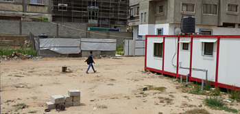 Temporary shelters in the Shuja'iyeh neighbourhood of Gaza City, May 2016. © Photo by OCHA