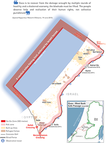 Map: The humanitarian impact of the Blockade on Gaza