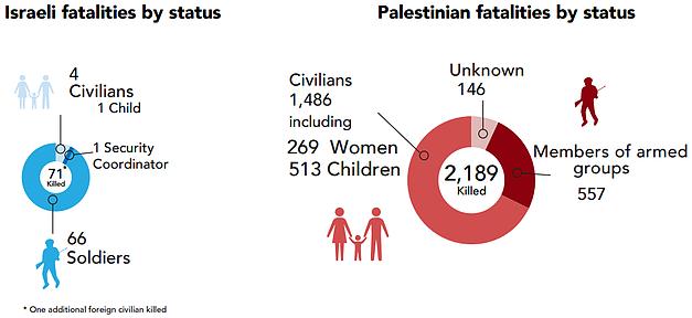 Charts: Fatalities 2014 Gaza hostilities
