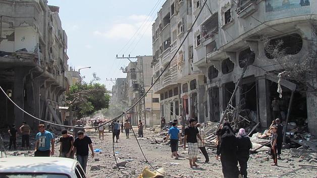 Ash Shuja'iyeh area, Gaza City, August 2014. Photo by OCHA