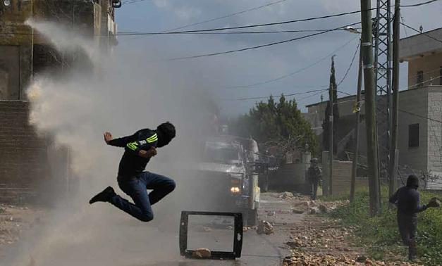 Clashes in Kafr Qaddum village (Qalqiliya), March 2015. © Photo by Akram Darawshi/Activestills.org