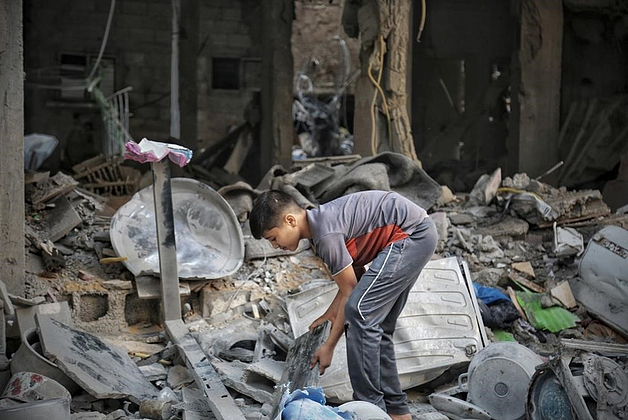Destruction in Gaza following Israeli strike May 2021 ©Photo by Mohammad Libed