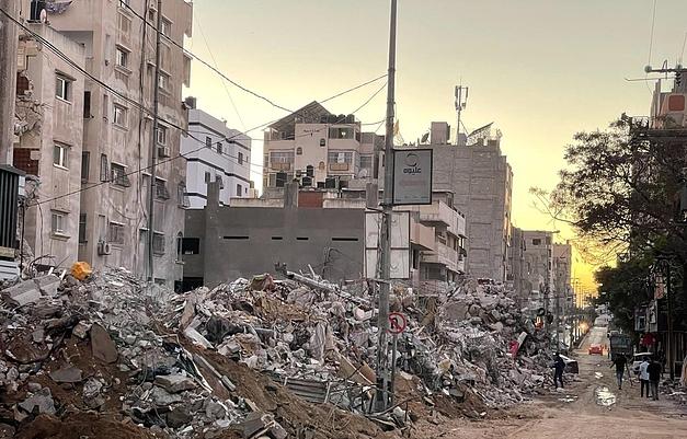 Destruction in Gaza following Israeli strike May 2021 ©Photo by Hazem al Abyad for OCHA