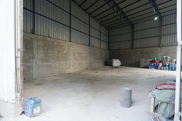 Empty warehouse of a cement mixing factory in eastern Gaza City, Nov 2016.