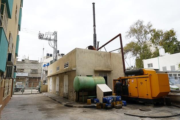 Backup generator at Ar Rantisi hospital, in Gaza, challenged due to a fuel shortage, February 2018. ©  Photo by OCHA