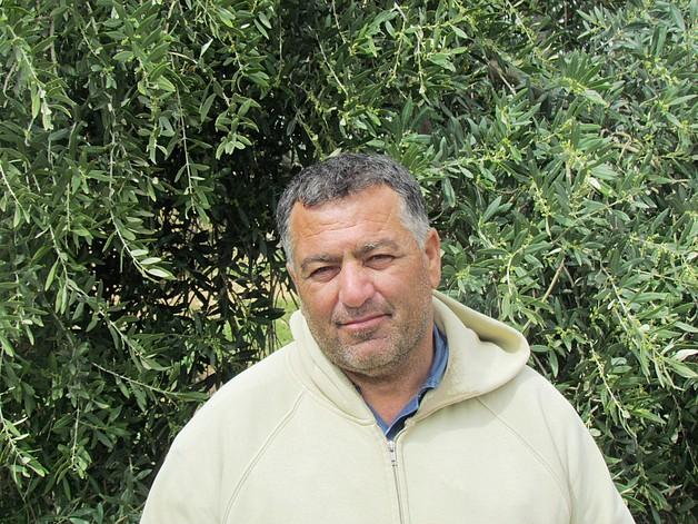 Tayseer 'Amarneh, farmer, Akkaba, Tulkarm, February, 2014. ©  Photo by OCHA.
