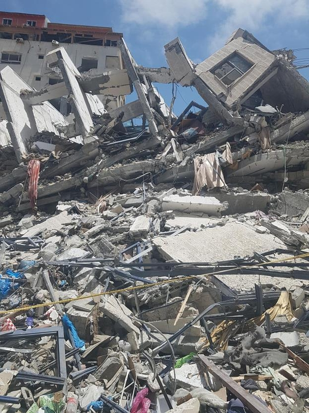 Infrastructural Destruction in Gaza May 2021 ©Photo UNMAS