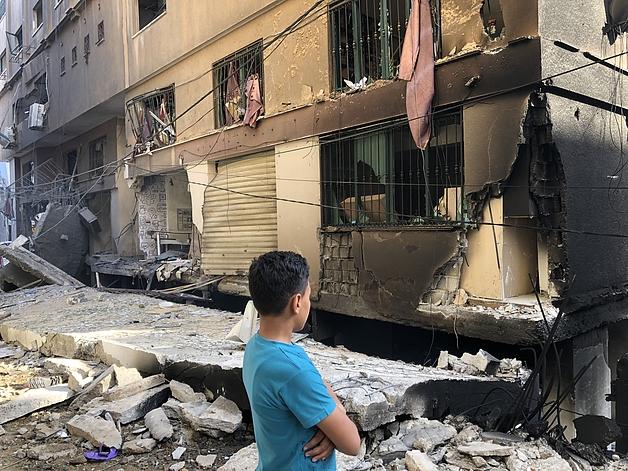غزة، 12 أيار/مايو 2021. تصوير مكتب الأمم المتحدة لتنسيق الشؤون الإنسانية