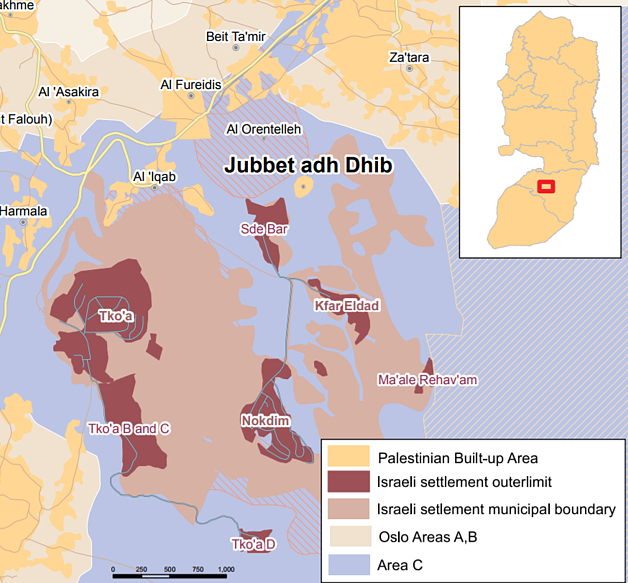 Map of Jubbet adh Dhib