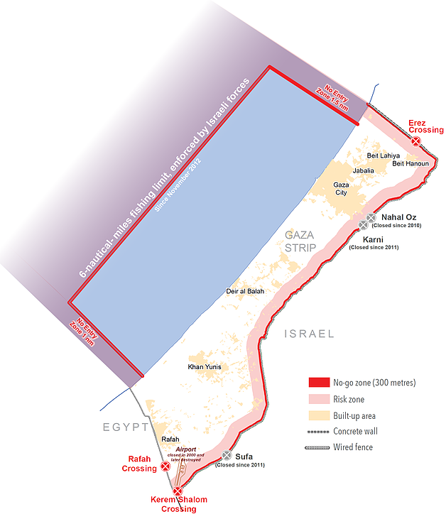 Map: Humanitarian space in Gaza