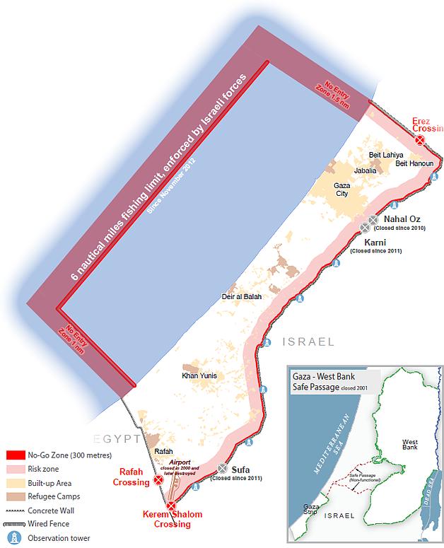 Map: The Gaza Strip