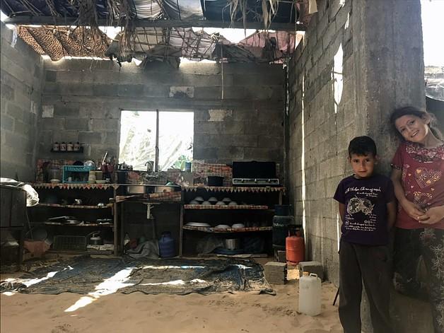 בית משפחת אבו־שלוף בעזבת בית חנון / © צילום: כוחו המשימה לענייני מחסה