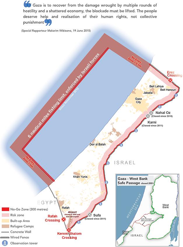 Map: The humanitarian impact of the Blockade on Gaza