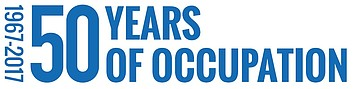 Logo: 50 years of occupation