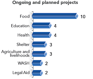 Chart: Ongoing and planned projects