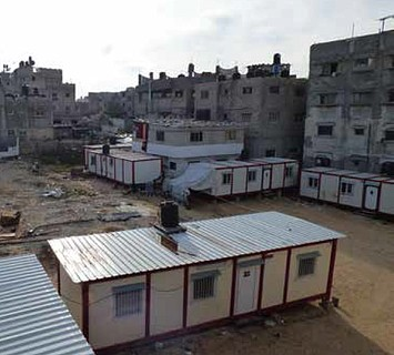 Temporary shelters in the Shuja'iyeh neighbourhood of Gaza City, May 2016. Photo by OCHA
