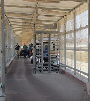 Erez crossing between Gaza and Israel and remaining oPt. September 2017. © Photo by OCHA.
