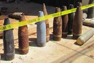 Explosive remnants of war. © Photo by OCHA