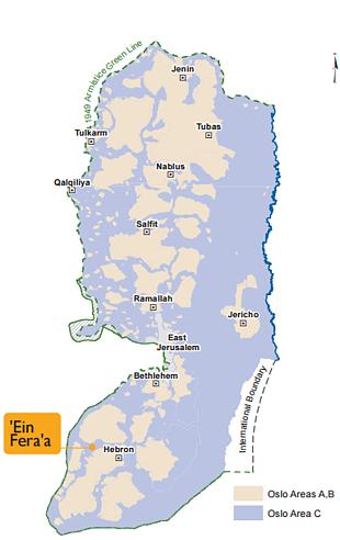 Map - 'Ein Fera'a
