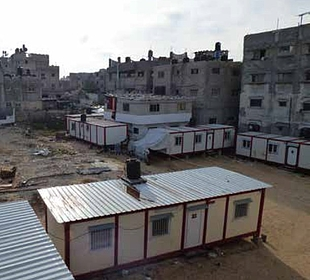 Temporary shelters in the Shuja'iyeh neighbourhood of Gaza City, May 2016. Photo by OCHA