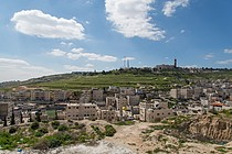 'Issawiya, East Jerusalem (foreground), occupied West Bank and Hebrew University (background), 2013. ©  Photo by OCHA