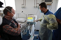 ICU beds at Rafah Field. Photo by WHO