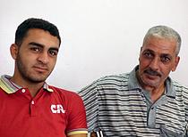 علاء وجميل بلاطة، مخيم جباليا للاجئين، تموز/يوليو2015 تصوير مكتب تنسيق الشؤون الإنسانية