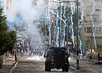 Clashes at the northern entrance of Bethlehem city (Rachel's Tomb), 13 October 2015. Photo by Ahmad Mezher