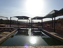 'Ein al Kabireh waterspring and ponds taken over by Elon Moreh settlement and turned into tourist attraction, November 2016. © Photo by OCHA