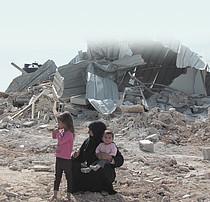 Demolition in Umm al Khair, Hebron governorate. October 2014. Photo by OCHA