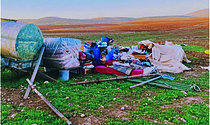 Humsa – Al Bqai'a (Tubas), where 55 Palestinians, including 32 children, were displaced on 1 February 2021. Photo by OCHA.