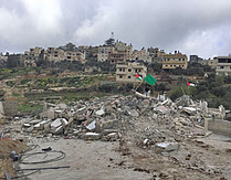 Demolition of a house on punitive grounds in Kobar village on 7 March (Ramallah). Photo by OCHA. Photo by OCHA.