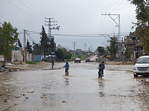 Flooding in Gaza during the winter storm in Al-Shuja'iyah area. January 2015. Photo by OCHA