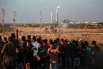 Gaza demonstrations at the perimetre fence continue, 17 September 2018. © Photo by Mohammed Dahman
