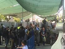 حاجز جيلو، فلسطينيون يصلون إلى القدس الشرقية لأداء صلاة الجمعة في رمضان، 3 تموز/يوليو تصوير مكتب تنسيق الشؤون الإنسانية