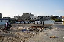 פירוק של אתר קרוואנים בבית חנון לאחר שדייריו הועברו לדיור נאות יותר, ינואר 2017 / © צילום: משרד האו״ם לתיאום עניינים הומניטריים