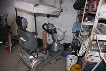 Electrical scooter out of order due to lack of electricity supply for its utilization. September, 2017.